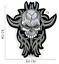 miniature 16 - PIRATE SKULL Embroidered Biker Patches Skeleton Iron / Sew on Badges Grim Reaper