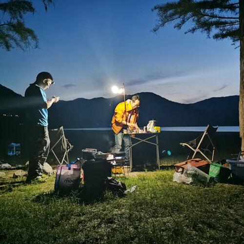Detachable Lantern Stand Lamp Tripod Camping Lamp Bracket Light Holder Mount
