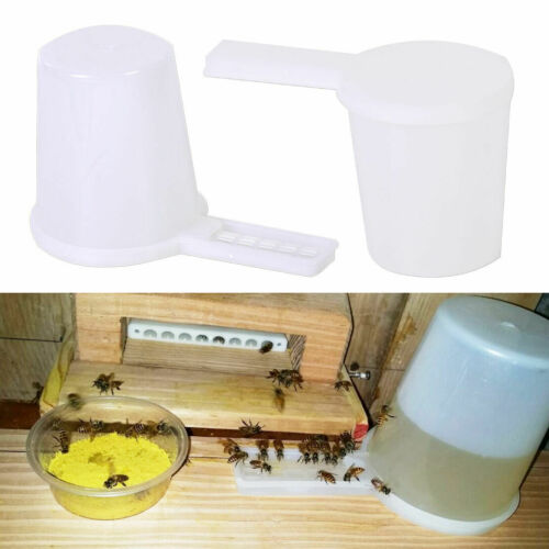 2 Set Beekeeping Honey Entrance Water Drinker Bowl Bee Feeder Bottle Hive Tool