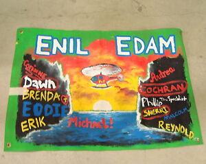 SURVIVOR-CARAMOAN-SIGNED-ENIL-EDAM-FLAG