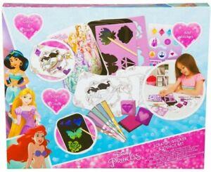 Disney-Princesa-cero-plantilla-amp-Pegatina-de-actividades-para-ninos-Conjunto-de-Regalo-Nueva-En