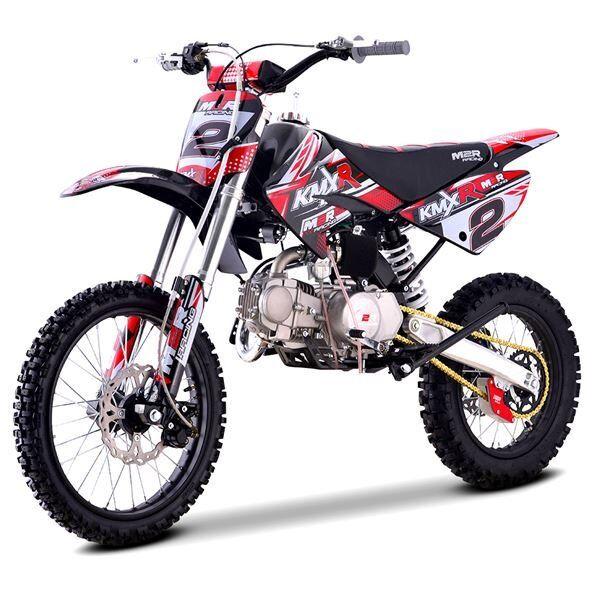 125cc Dirt Bike M2R Racing KMXR125 Red 4 Stroke Manual 86cm Off Road Big Wheel
