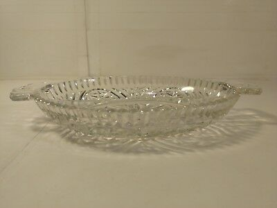 "Antiques Vintage 10"" Patterned Glass 2 Compartment Separated Candy Dish Bowl Hd920 An Indispensable Sovereign Remedy For Home"