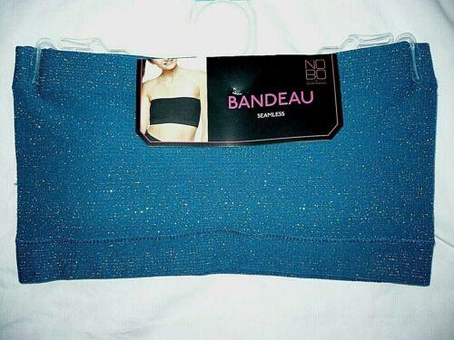 No Boundaries Seamless Bandeau Bra XXL Corsair Metallic Color Padded Cups NEW
