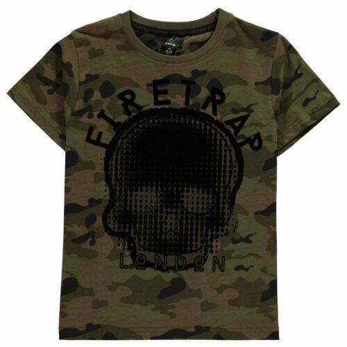 Firetrap Kids Boys Short Sleeve T Shirt Junior Crew Neck Tee T-Shirt Top