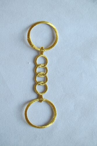 Gold Trim Fringe Ring,Chain Embroidery Iron On Applique Patch