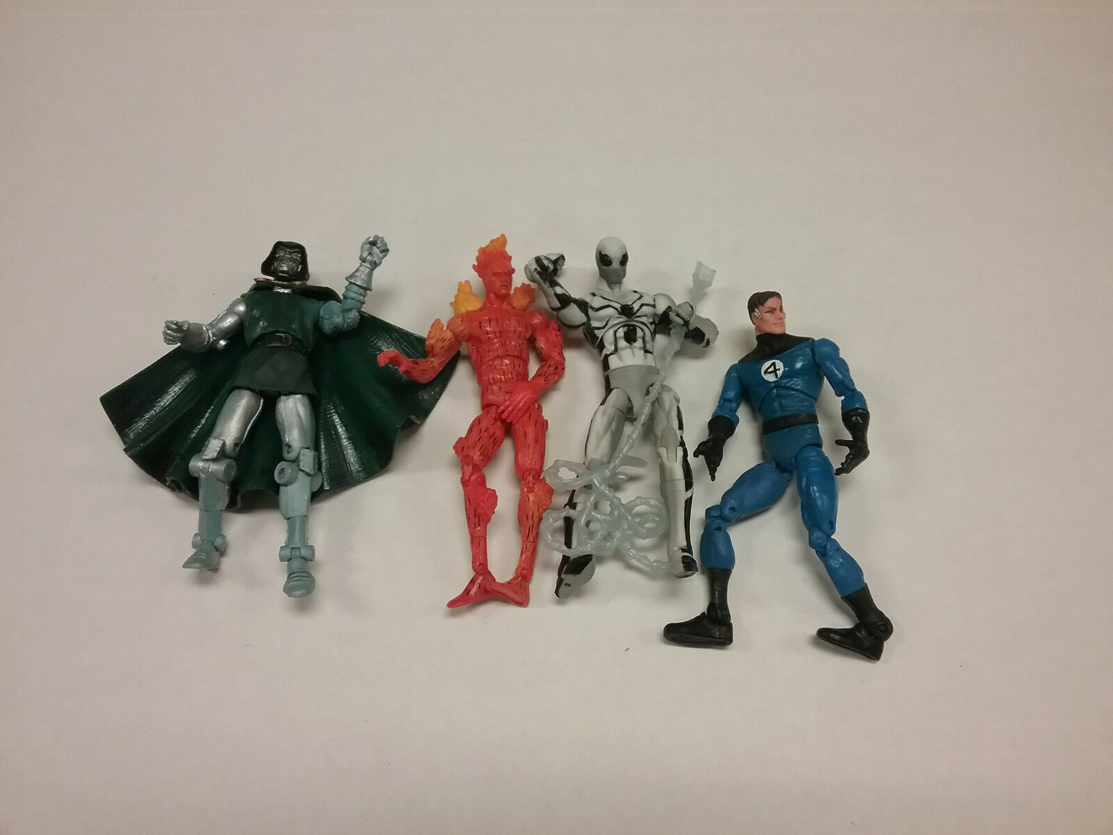 Marvel Universe Fantastic Four Lot of 4 Figures Doom Torch Spidey Future th1