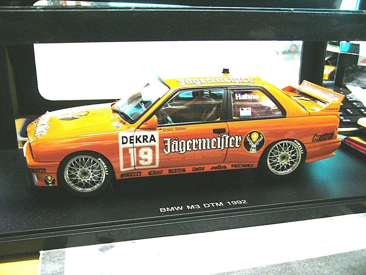 BMW m3 3er e30 DTM 1992 JAGERMEISTER  19 Hahne équipe Linder RAR Autoart 1 18
