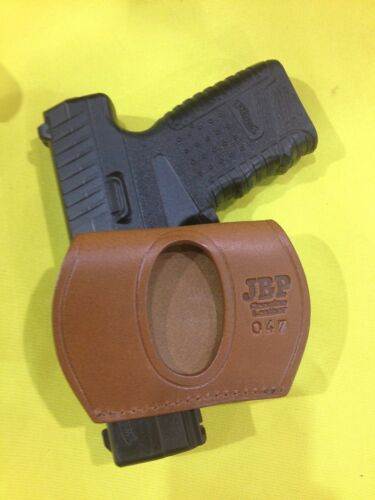 #047 BRN WALTHER PPS Leather YAQUI Style Holster