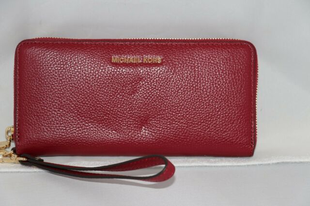 66939f722110 MICHAEL Michael Kors Mercer Travel Continental Wristlet Wallet - Cherry