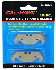 10 pc Hook Utility Knife Razor Box Carpet Linoleum Cutter Blade