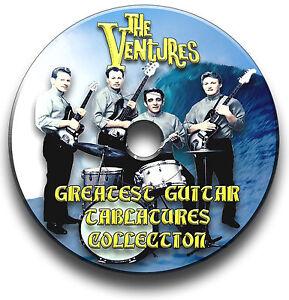 THE-VENTURES-POP-GUITAR-TAB-TABLATURE-SONG-BOOK-SOFTWARE-CD