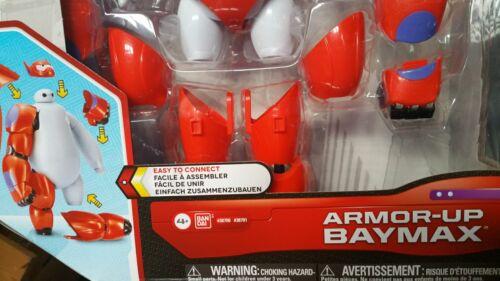 New Disney Big Hero 6 Movie Armor Up BAYMAX Robot Action Figure Bandai Toy NIB