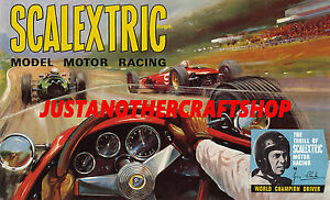Scalextric-Jim-Clark-1966-Large-Size-Poster-Advert-Shop-Display-Sign-Leaflet