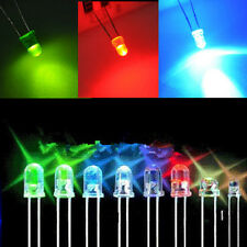 100pcs 3mm White Green Red Blue Yellow LED Light Bulb Emitting Diode Lamps CHI