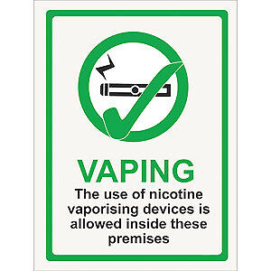 Vaping Allowed Window Sticker Vaping Signs Vaping Permitted Signs Pub Signs