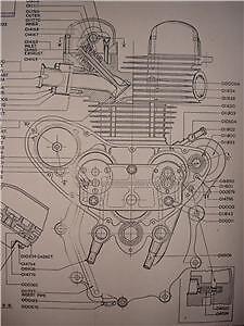 1953 matchless g9 500cc engine cutaway parts poster ebay rh ebay com au