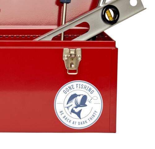 2 x autocollant pêche Gone voiture vélo iPad Portable Papa Frère boîte cadeau de Poisson # 4300