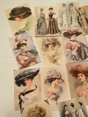 Vintage Style Die Cuts//Gift Tags-Edwardian Ladies-Victorian-Cards-Journals 60pcs