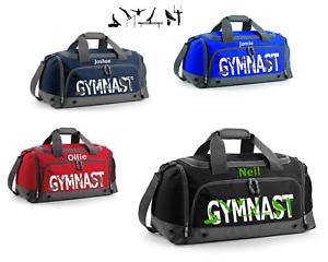 Gym Sports Travel Personalised Boy // Men Holdal // Kit Bag      Gymnastics
