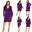 Plus-Size-Women-Lace-Dress-Evening-Party-Cocktail-Formal-Prom-Ball-Mini-Dress