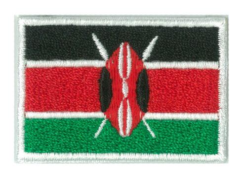 Applikation Patch heißklebend Abzeichen Flagge Kenia petit 45 x 30 mm Bestickt
