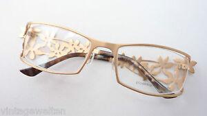 Augenoptik Brille Fassung Top Design Hochwertig Marke Glasses Gold Breiter Foralbügel Sizem Seien Sie In Geldangelegenheiten Schlau Damen-accessoires