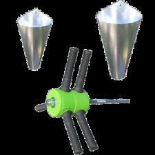 Chicken Plucker Drill Powered + ONE Medium & ONE Large Killing Restraining Cone