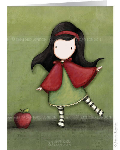 GORJUSS greeting card #GJ-C-131 LITTLE RED