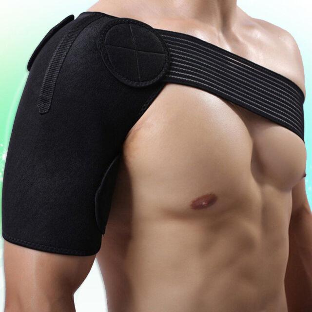 Men Shoulder Support Brace Strap Compression Bandage Wrap Protect Adjustable NEW