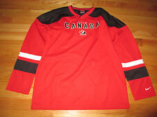 Nike CANADA CUP Embroidered (Yth LG) Jersey w/ Patches