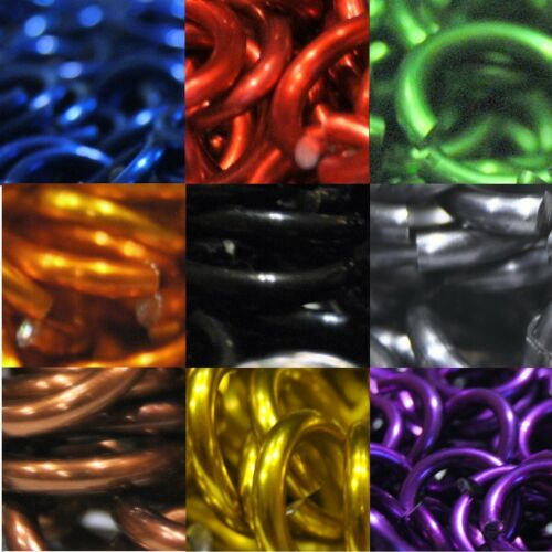 "Multiple Colors .062/"" 300 Saw-Cut Chainmail Jump Rings 5//16/"" ID 14g AWG"