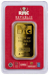 Republic Metals 1 oz. Gold Bar (Sealed with Red Assay Card) SKU44285