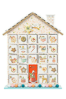 NEW Vue Vintage Wonder Wooden House Advent Calendar