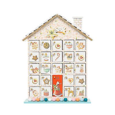 NEW Vue Vintage Wonder Wooden House Advent Calendar