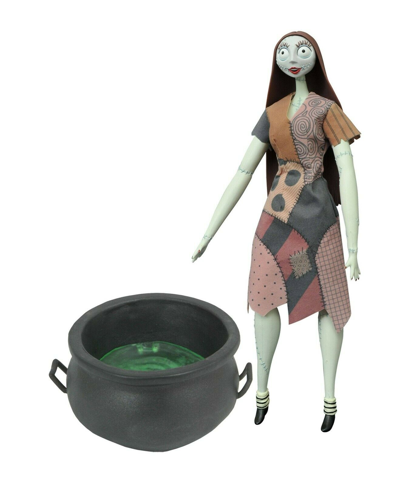 NIGHTMARE BEFORE CHRISTMAS SALLY WITH CAULDRON  DELUXE DOLL SET DIAMOND SELECT