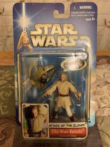 Episode 2 Obi-Wan Kenobi Coruscant Chase Action Figure New MOC Star Wars