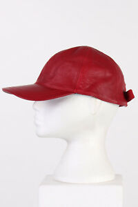 Vintage-Genuine-Baseball-Style-Leather-Hat-Snapback-Winter-UK-Red-S-M-L-HAT200