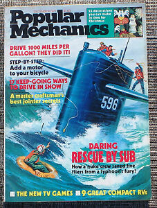 Popular-Mechanics-Magazine-December-1977-Daring-Rescue-By-Sub-Xmas-Decorations