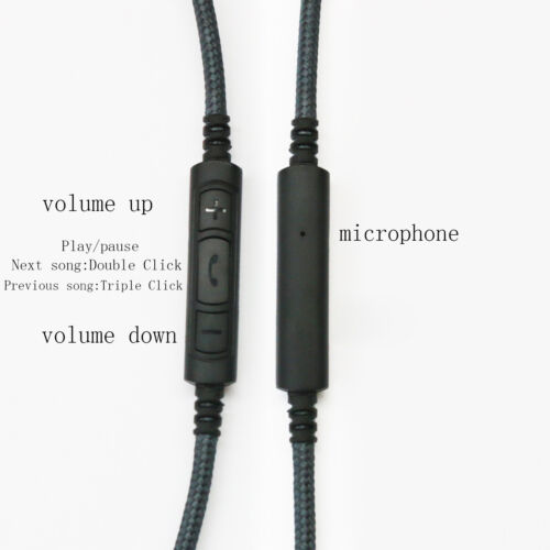 New Cable for Sennheiser HD650 HD600 HD580 Remote volume /& Mic for Android phone