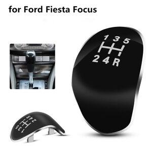 5-Speed-Car-Truck-Gear-Shift-Knob-Head-Cap-Cover-For-Ford-Fiesta-Focus-Black
