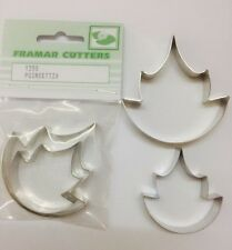 Cake Decorating Metal 135S Poinsettia Leaf by Framar Cutters