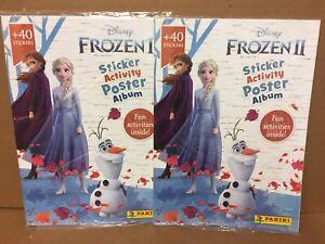 2 x Panini Frozen 2 Sticker Activity Poster Album + 40 Stickers new