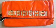 Juicy Couture Orange / Coral Sateen Jade Jeweled Clutch NWT & Dustbag YHRU3341