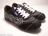 Sparco Logo Teamwear Shoes Black Racing Crew Shoes Unisex Casual Sneakers