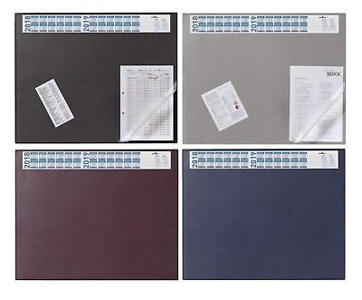 DURABLE Schreibunterlage mit Jahreskalender dunkelblau PVC 650 x 520mm