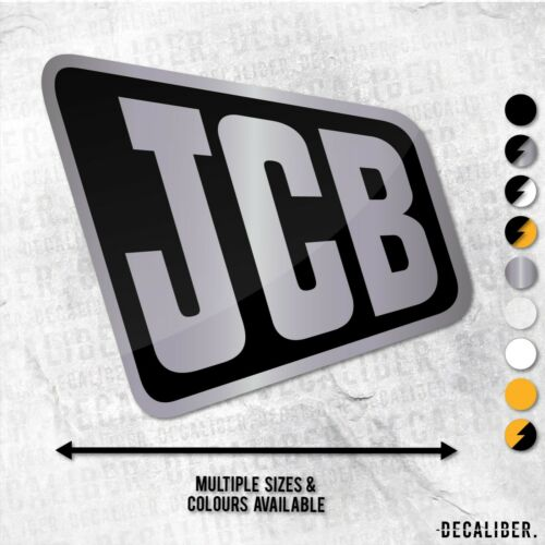 Many Sizes /& Colours Excavator Digger Fastrac Decal JCB Badge Old Sticker