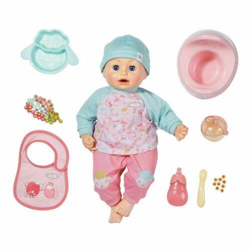Baby Annabell pausa pranzo bambola giocattolo magicamente mangia cibo Deluxe Set Nuovo Con Scatola 43cm