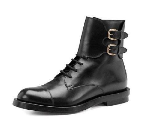 Da Uomo Fatto A Mano Oxford Caviglia Monk Strap Lacci Stivali in pelle di alta qualità