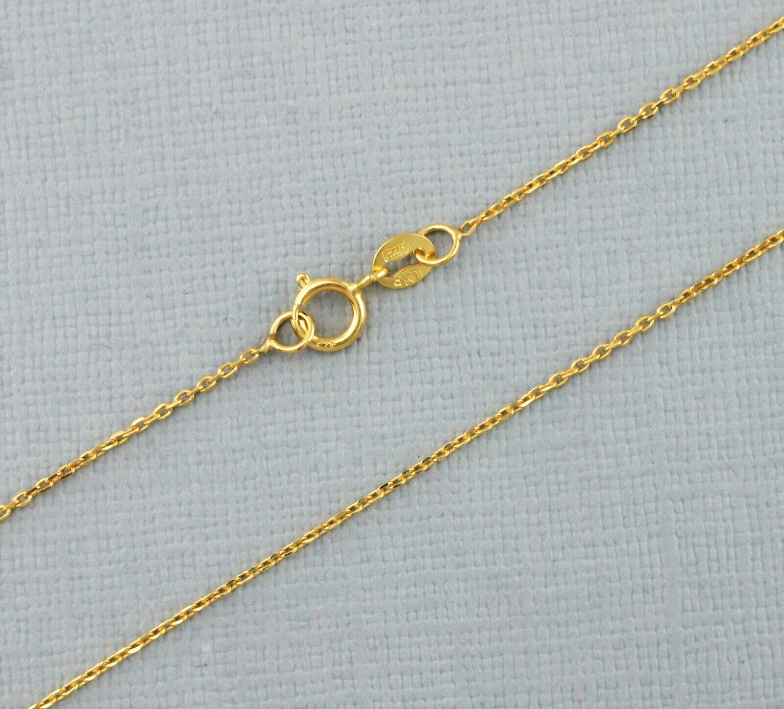 ef4c6898c 9ct Yellow gold Diamond Trace Chain 16 , 18 , 20 Inches New Cut ...